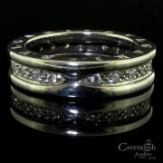 Designer Bulgari 18ct White Gold Full Hoop Diamond Eternity Ring