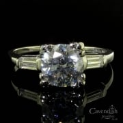 Desirable Art Deco Platinum Diamond Solitaire Ring