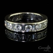 Distinctive 18ct White Gold And Diamond Half Eternity Ring