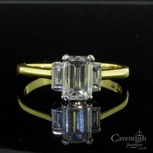 Divine 18ct Yellow Gold Diamond Trilogy Ring