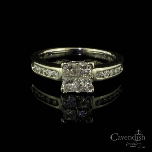 Elegant White Gold and Diamond Solitaire
