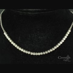 Elegant White Gold Diamond Necklace