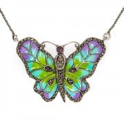 Enamel and Marcasite Buttefly Pendant