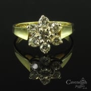 Enchanting 18ct Gold Diamond Flower Cluster Ring