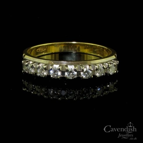 Enchanting 18ct Gold Diamond Half Hoop Ring