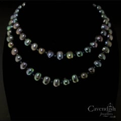 Enchanting Black Pearl Necklace