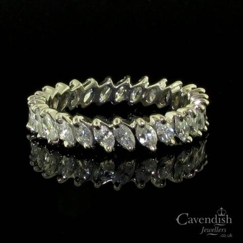 Enchanting Marquise Cut Diamond Full Eternity Ring From