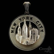 Exceptional New York City Pendant Medallion