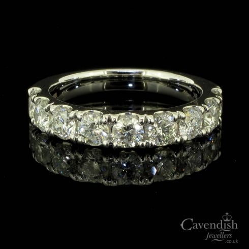 Exhilarating 18ct White Gold And Diamond Half Eternity Ring