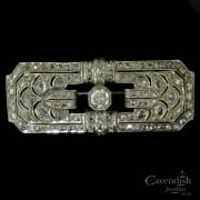 Exquiste Silver, Rose And Old Cut Diamond Brooch Circa 1910