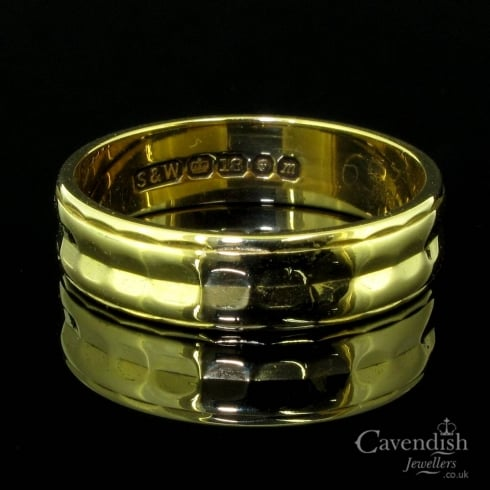 Fancy 18ct Gold Wedding Ring From Cavendish Jewellers Ltd Uk