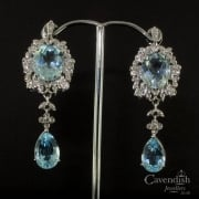 Fantastic Aquamarine & Diamond Earrings