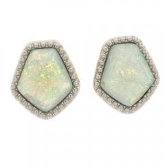 Faux Opal Stud Earrings