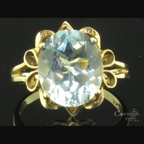 Glistening Fancy Mounted Aquamarine Ring