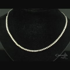 Glistening White Gold Diamond Necklace