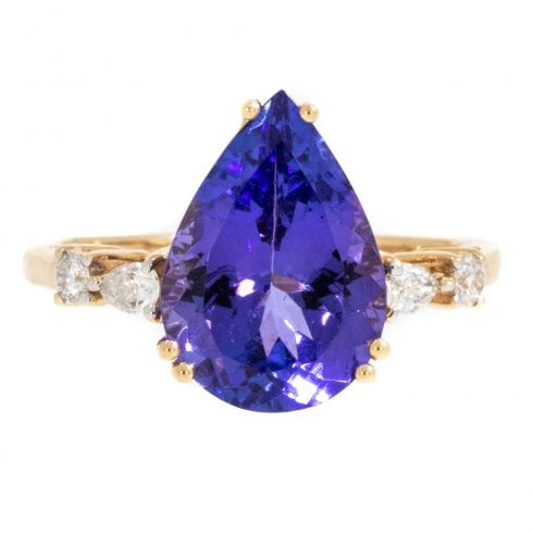 Gold Tanzanite & Diamond Ring