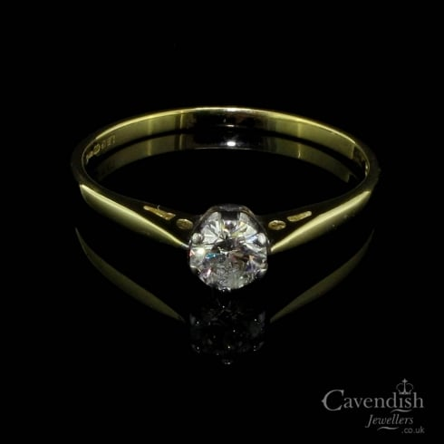 Gorgeous 18ct Gold Solitaire Diamond Ring