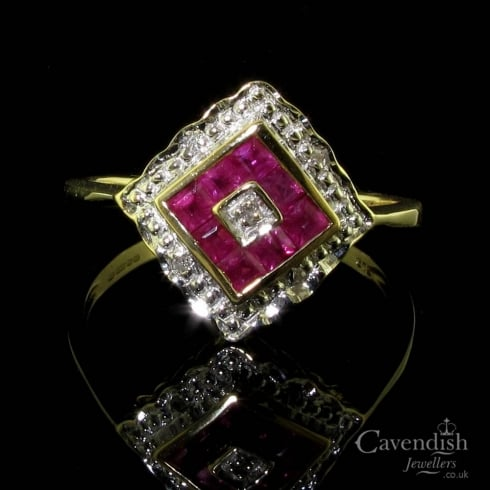 Impressive 9ct Gold Ruby & Diamond Ring