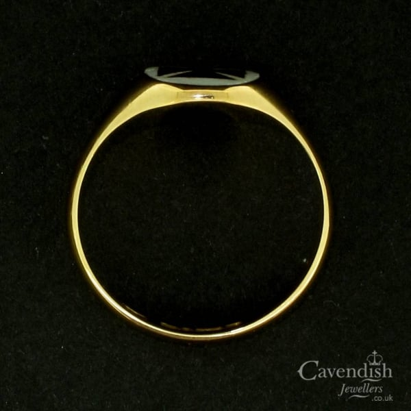 Impressive 9ct Rose Gold & Enamel Masonic Ring
