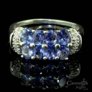 Impressive 9ct White Gold Tanzanite and Diamond Ring