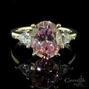 Impressive Silver Pink & White Cubic Zirconia Ring