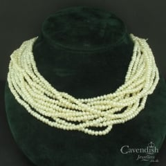 Inspirational 10 Strand Cultured Pearl Millenuim Necklace