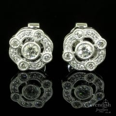 Inspirational Diamond Fancy Cluster Earrings