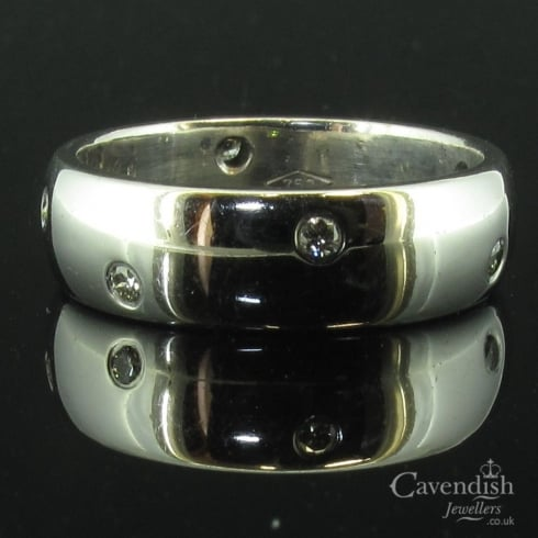 Inspirational White Gold Diamond Band Ring