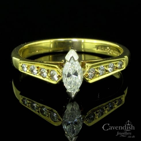 Irresistible 18ct Gold Diamond Solitaire Ring