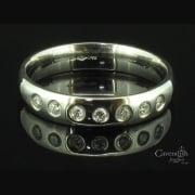 Luxurious Platinum & Diamond Set Wedding Or Eternity Ring