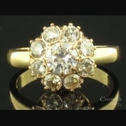 Magnificent 18ct Rose & Yellow Gold Diamond Cluster Ring