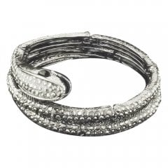 Marcasite And Austrian Crystal Snake Bangle