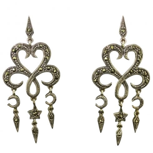 88a8504a7 Marcasite And Silver Drop Earrings - from Cavendish Jewellers Ltd UK