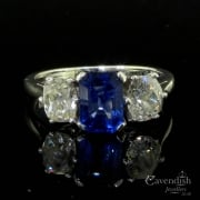 Mesmerising Vintage Sapphire and Diamond Trilogy Ring
