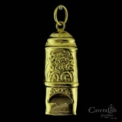 Novel Gold Plated Silver Whistle Pendant
