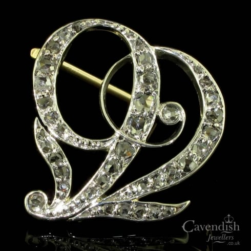 Old Rose Cut Diamond Victorian Brooch