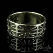 Patriotic Silver Union Jack Design Ring