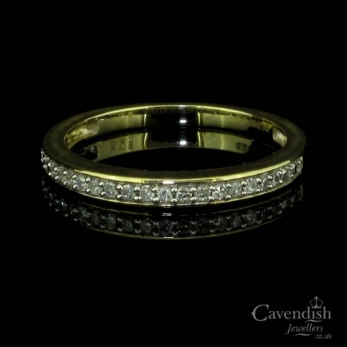 Pleasing 9ct Gold Diamond Half Eternity Ring