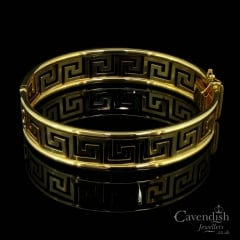 Pleasing Gold Greek Key Design Bangle