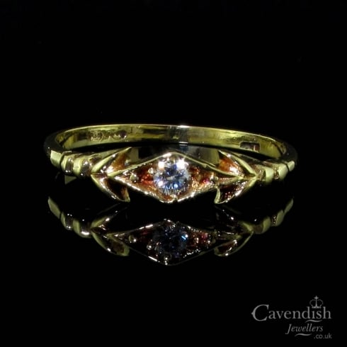 Pleasing Vintage Cubic Zirconia Ring