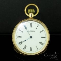 Popular 10ct Gold Engraved Waltham Pocket Watch