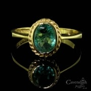 Pretty 9ct Gold Emerald Solitaire Ring