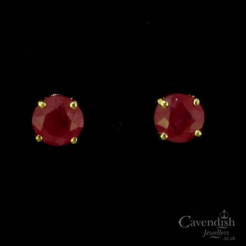 Pretty 9ct Gold Ruby Stud Earrings
