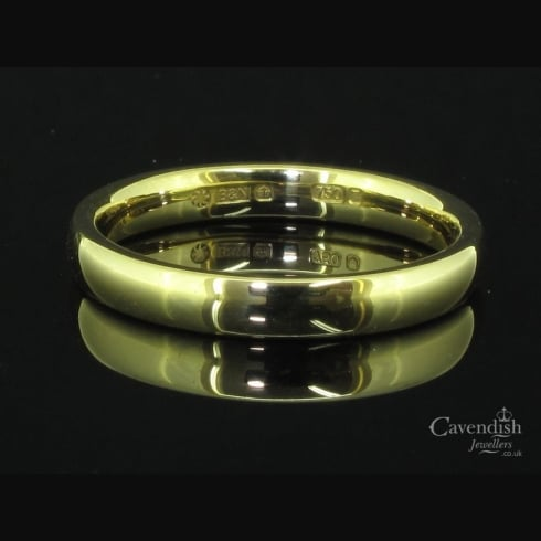 Quintessential 18ct Yellow Gold Ladies Wedding Ring