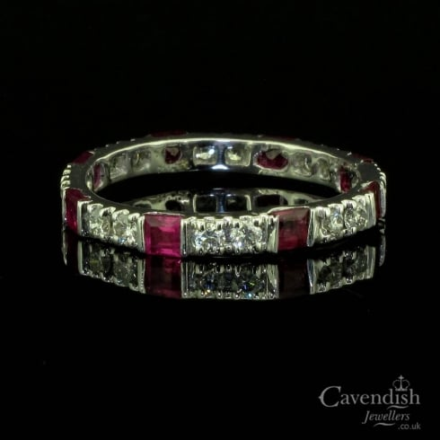 Ruby And Diamond Full Eternity Band