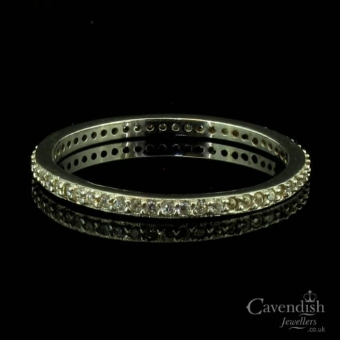 Silver And Cubic Zirconia Full Eternity Ring