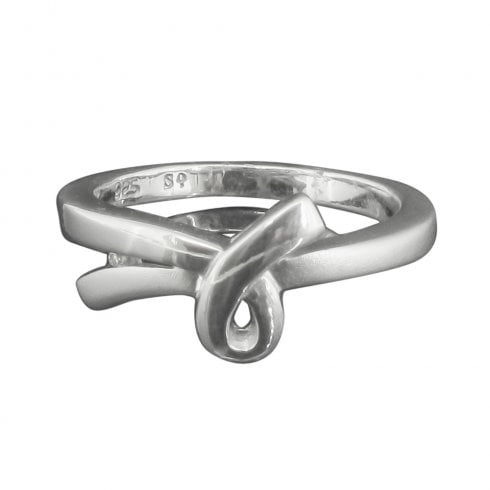 Silver and Diamond Loop Design Ring