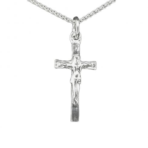Silver Crucifix Pendant Necklace