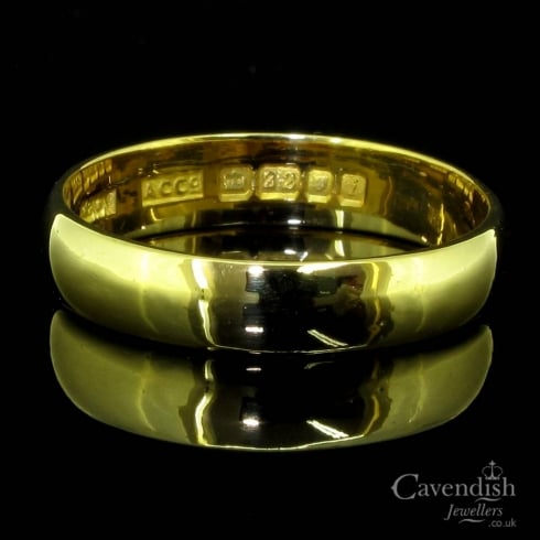 Sought After 22ct Yellow Gold Ladies Wedding Ring Circa 1960 from