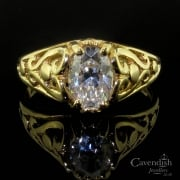 Sparkling 14ct Gold Cubic Zirconia Ring